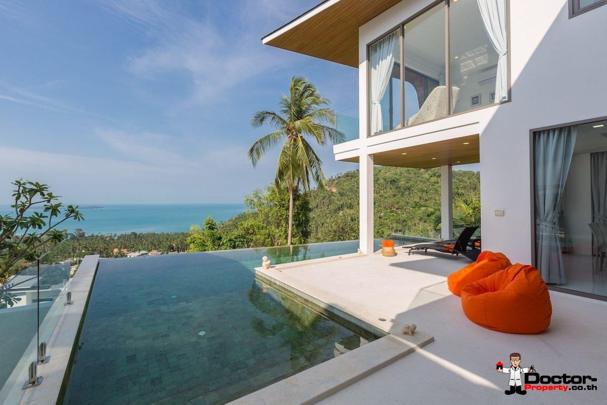3 Bedroom Pool Villa with Sea Views - Chaweng Noi, Koh Samui - For Sale