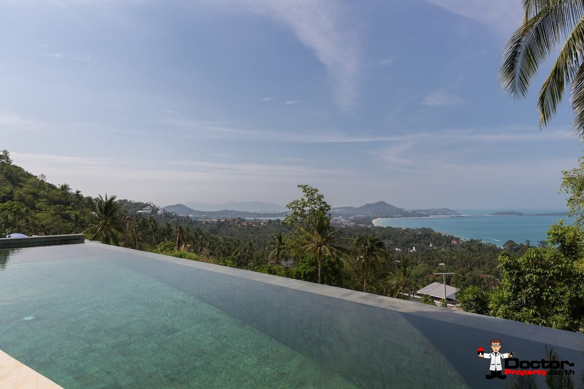 3 Bedroom Pool Villa with Sea Views - Chaweng Noi, Koh Samui - For Sale