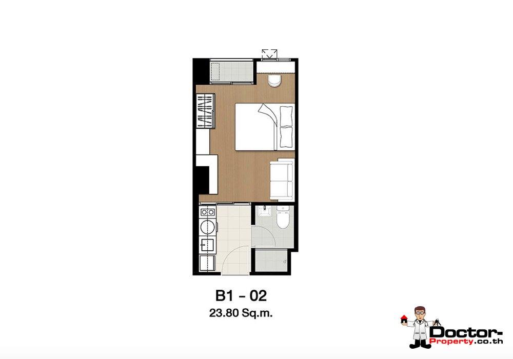 Apartment_for_sale_ Kensington-63_Bangkok_floorplan_23,80sqm