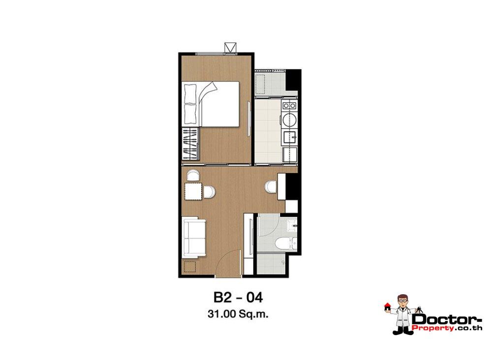 Apartment_for_sale_ Kensington-63_Bangkok_floorplan_31,00sqm