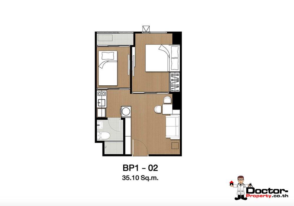 Apartment_for_sale_ Kensington-63_Bangkok_floorplan_35,10sqm
