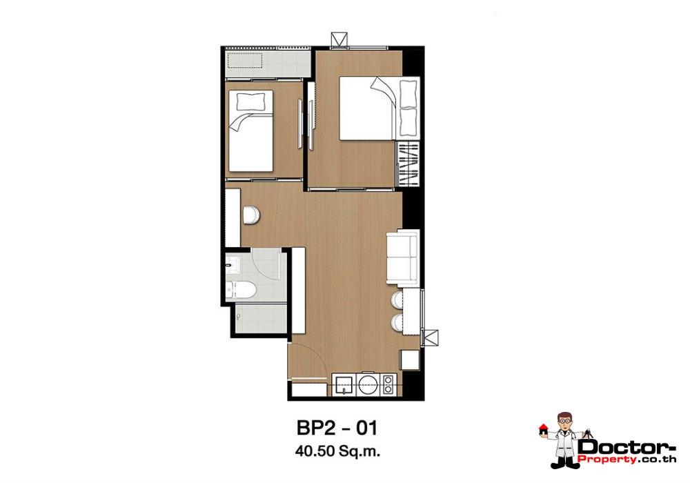 Apartment_for_sale_ Kensington-63_Bangkok_floorplan_40,50sqm
