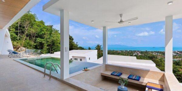 New 3 Bedroom Pool Villa with Sea Views - Bo Phut, Koh Samui - For Sale
