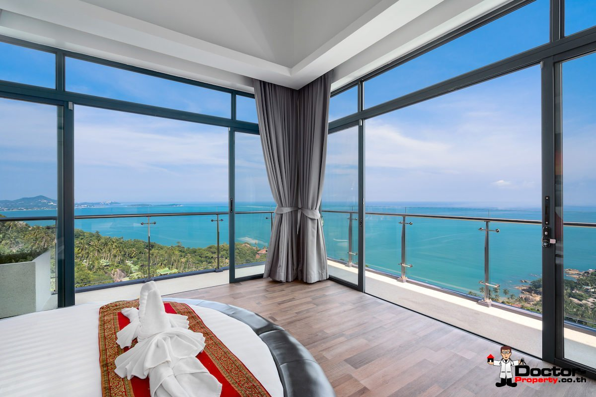 Luxury 5 Bedroom Villa with Panoramic Views - Chaweng Noi, Koh Samui - For Sale