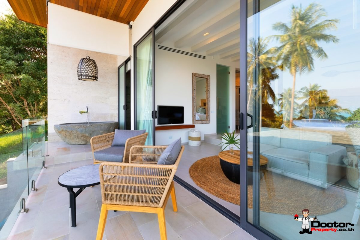 Luxury 6 Bedroom Sea View Villa - Chaweng - Koh Samui - for sale