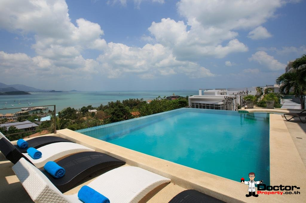 4 Bed Pool Villa with Sea View - Big Buddha, Koh Samui - For Sale