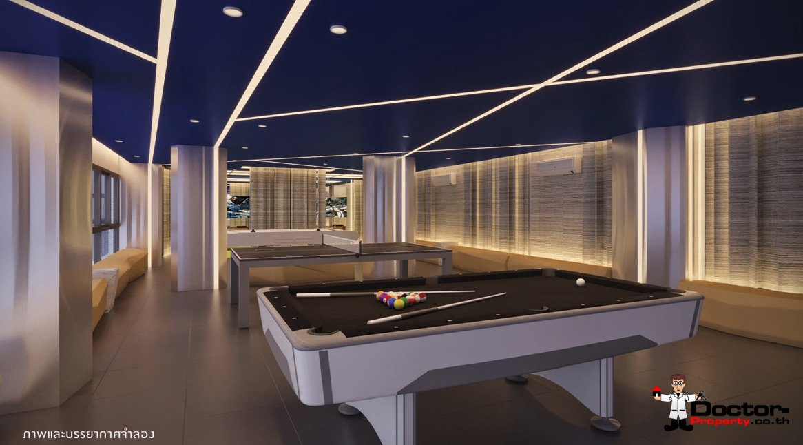 Apartment_for_sale_ Kave_Town_Space_Bangkok_pooltable