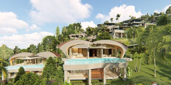 New 3 Bedroom Pool Villas with Sea View - Chaweng Noi, Koh Samui - For Sale
