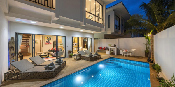 New 3 bedroom Pool Villas with Sea View in Plai Laem - Koh Samui