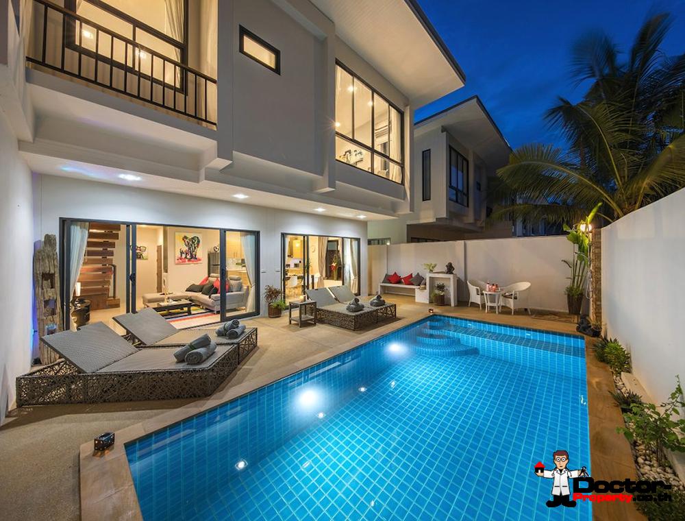 New 3 bedroom Pool Villas with Sea View in Plai Laem - Koh Samui
