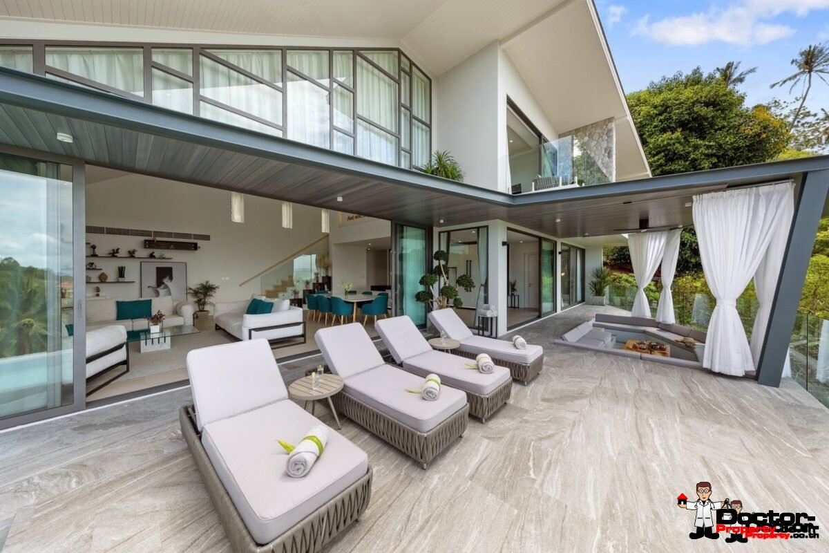 New 4 Bedroom Villa with Sea View in Bang Por - Koh Samui - For Sale