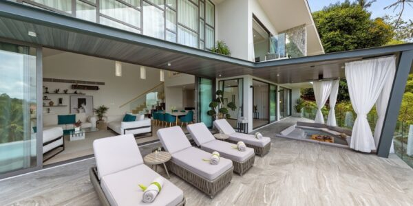 New 4 Bedroom Villa with Sea View in Bang Por - Koh Samui - For Sale