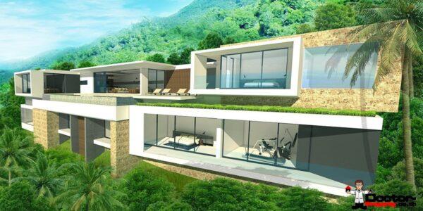 4 Bedroom Seaview Villas in Bang Rak, Koh Samui - For Sale