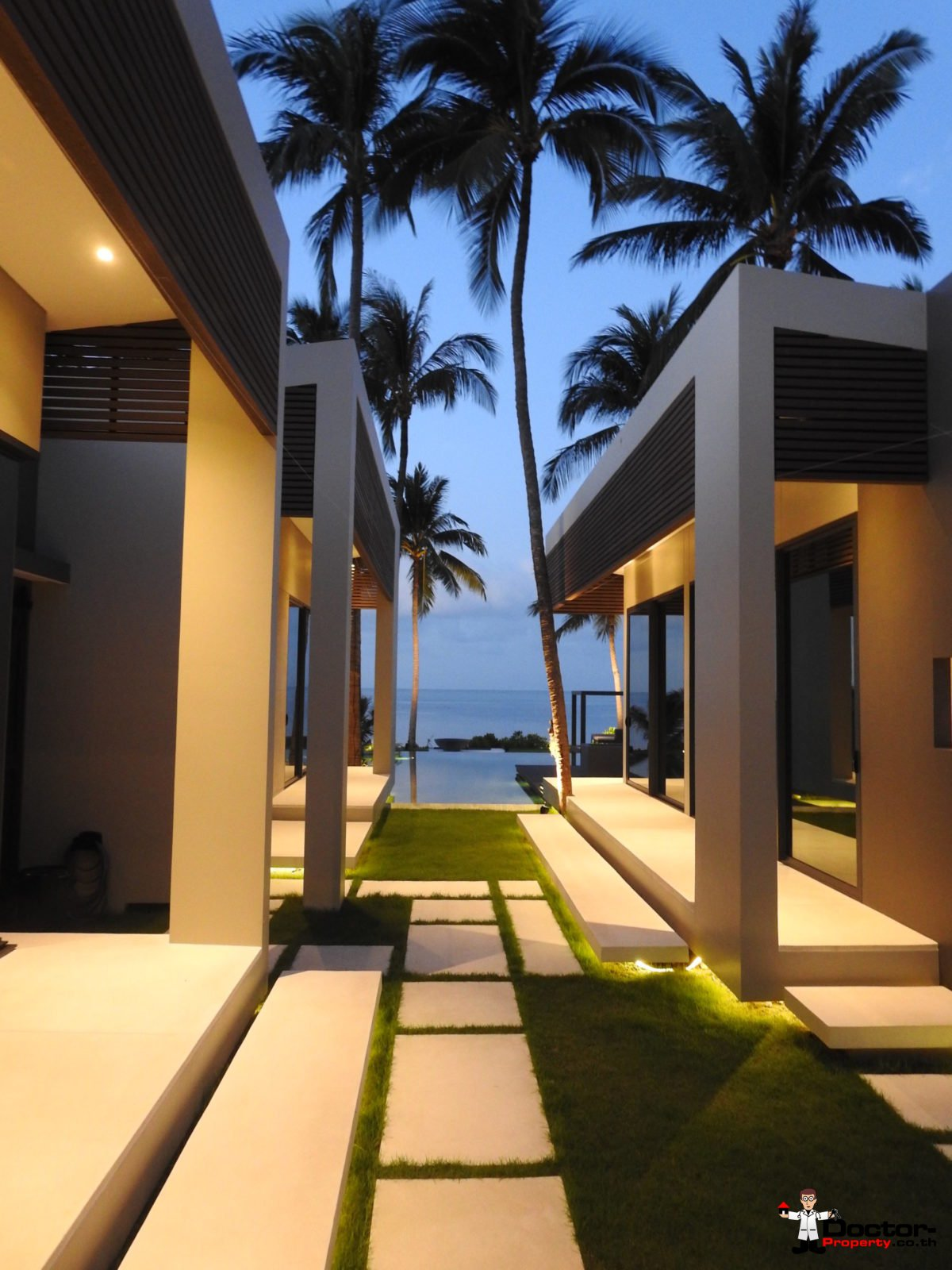 Beachfront Luxury 3 Bedroom Villa in Bang Por - Koh Samui - for sale 19