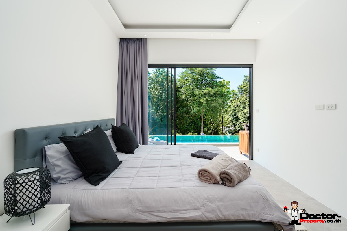 New 3 Bedroom Villa with Sea View Plai Laem - Koh Samui - For Sale