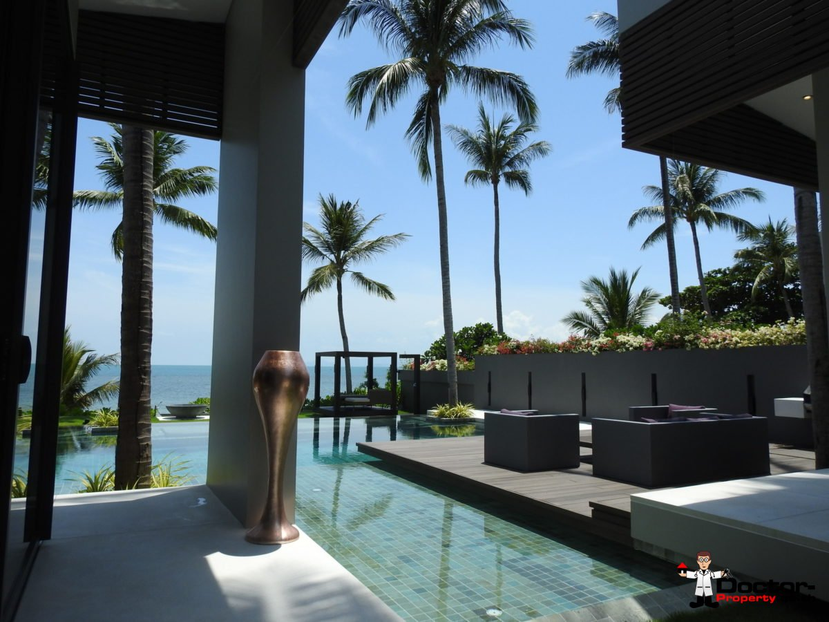 Beachfront Luxury 3 Bedroom Villa in Bang Por - Koh Samui - for sale 11