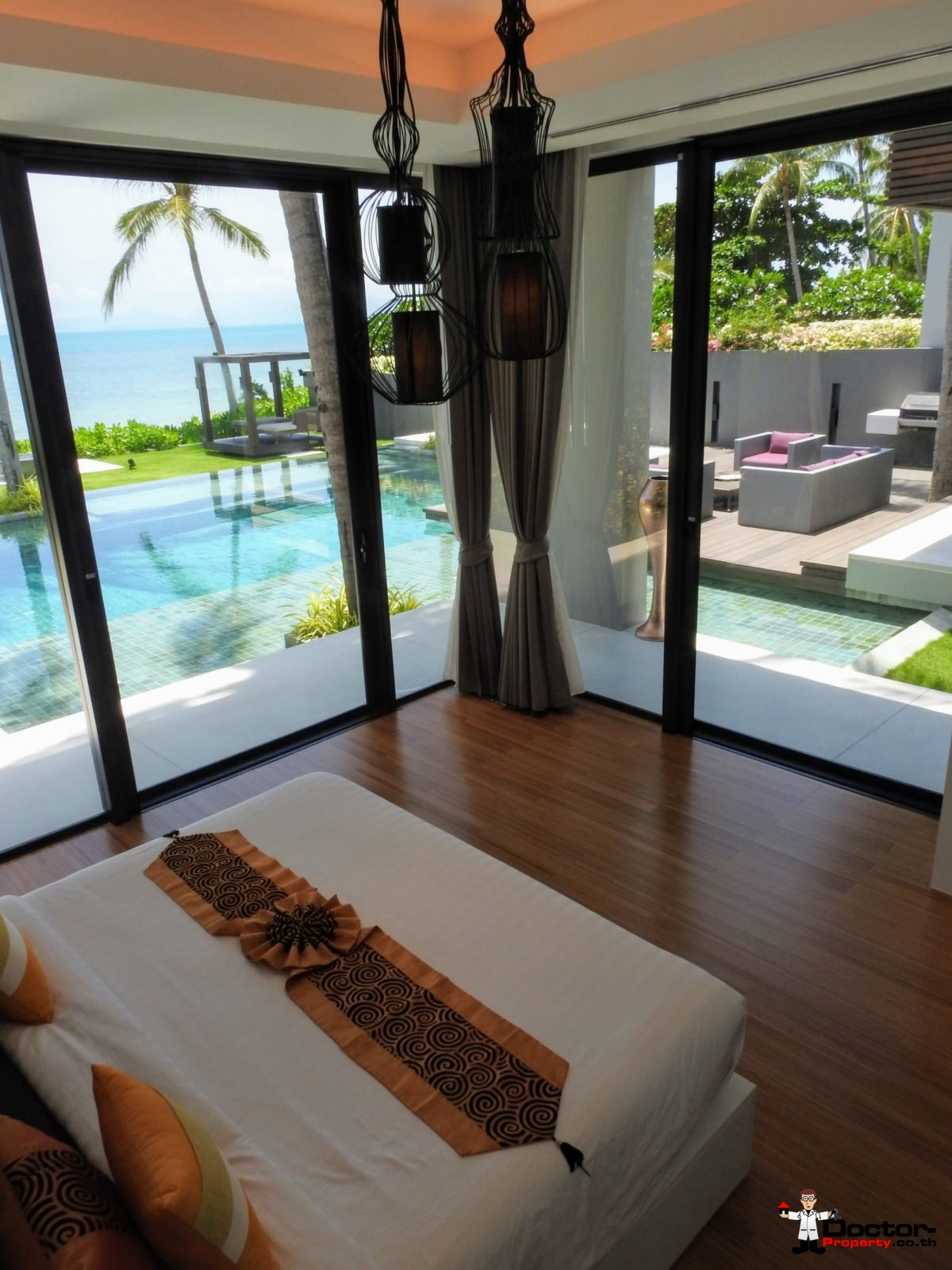 Beachfront Luxury 3 Bedroom Villa in Bang Por - Koh Samui - for sale 14