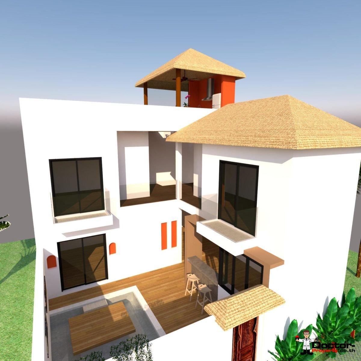 New 2 Bedroom Villa with Sea View - Lamai Beach - Koh Samui 3