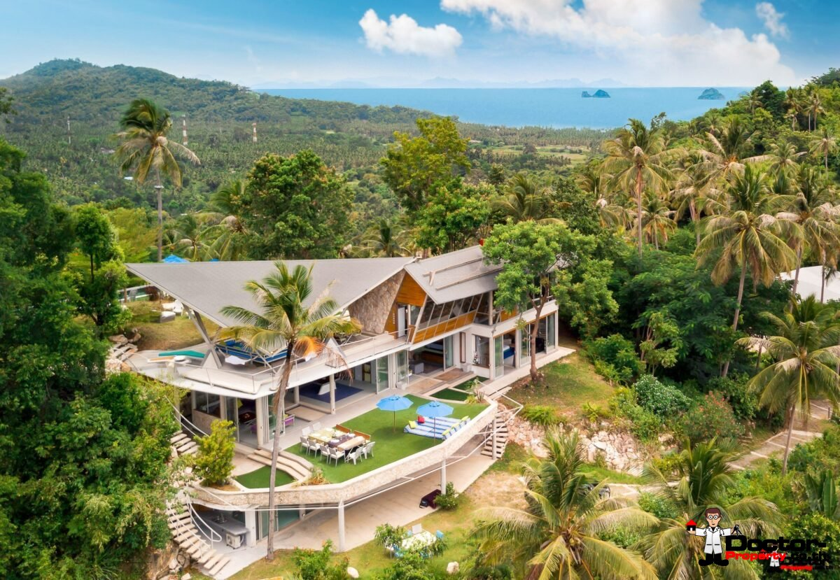 Magnificent Hilltop Estate with 5 Bedrooms - Taling Ngam, Koh Samui - For Sale