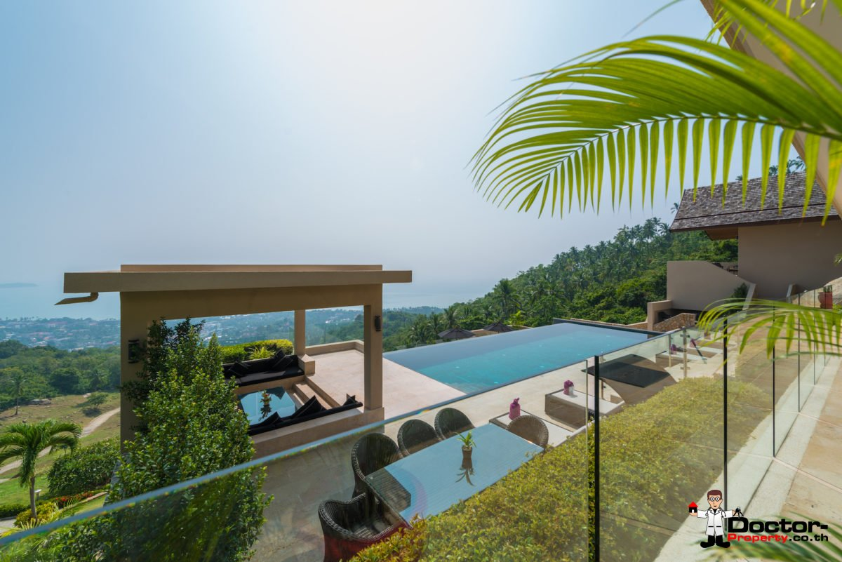 Luxurious 5 Bed Pool Villa with Sea View - Chaweng Noi, Koh Samui - For Sale