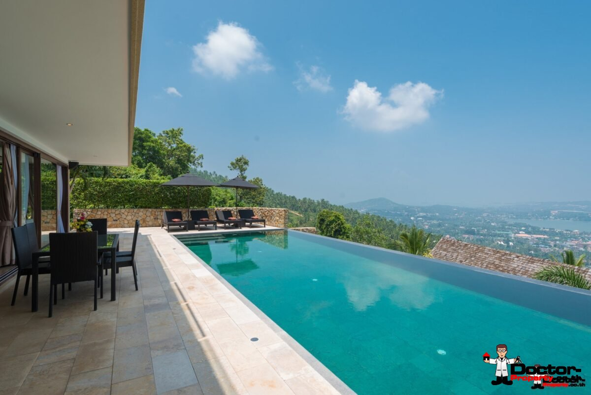 Luxurious 4 Bed Pool Villa with Sea View – Chaweng Noi, Koh Samui – For Sale