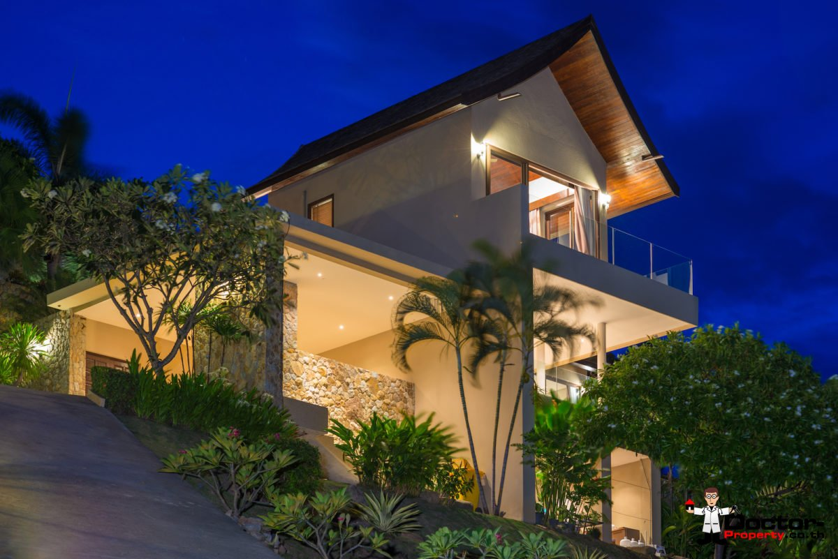 3 Bedroom Pool Villa with Seaview - Chaweng - Koh Samui - For Sale