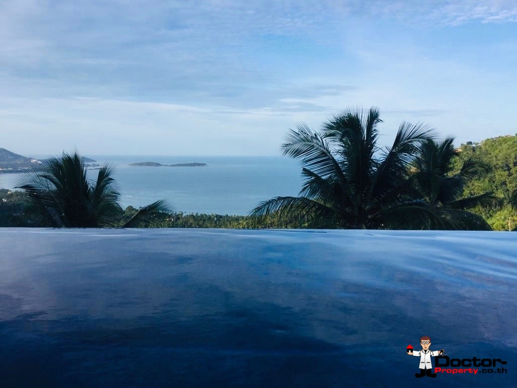 3 Bedroom Pool Villa with Sea View - Chaweng Noi, Koh Samui - For Sale