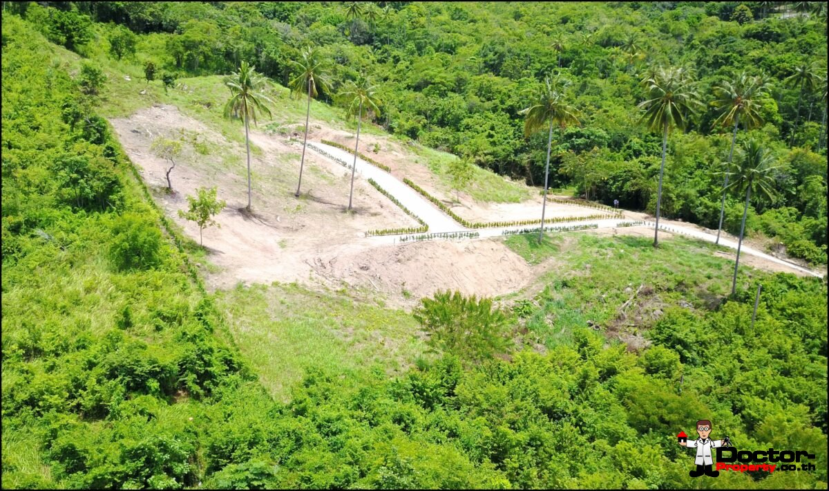 Serviced Sea View Plots, 670m² to 1,100m² – Angthong, Koh Samui – For Sale