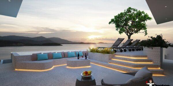 New 4 Bed Pool Villa with Sea Views - Big Buddha, Koh Samui - For Sale