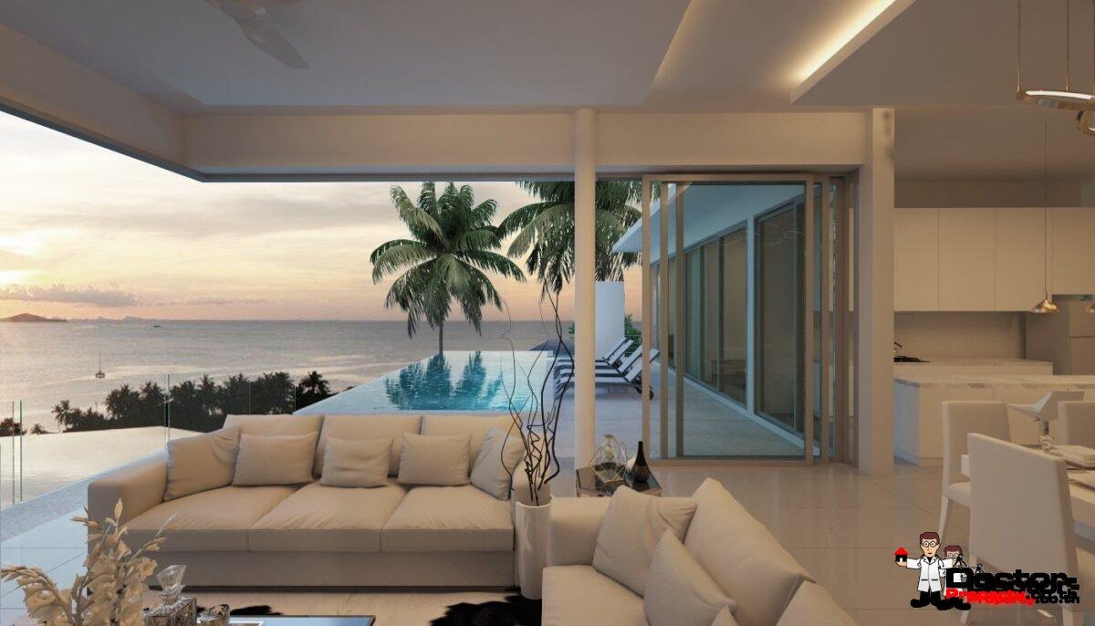 New 6 Bedroom Pool Villa with Sea Views - Big Buddha, Koh Samui - For Sale