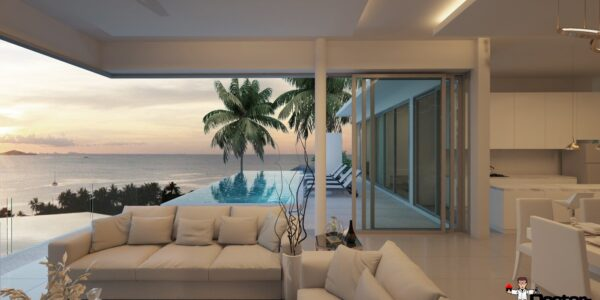 New 6 Bedroom Pool Villa with Sea Views - Big Buddha, Koh Samui - For Sale