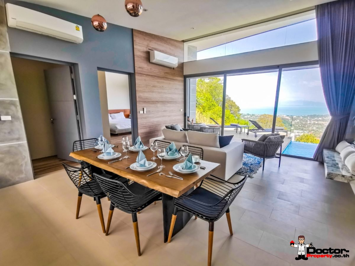 New 3 Bedroom Villa with Sea View in BoPhut - Koh Samui - For Sale