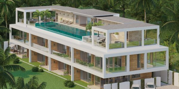 New 4 Bedroom Townhouse - Choeng Mon - Koh Samui - for sale