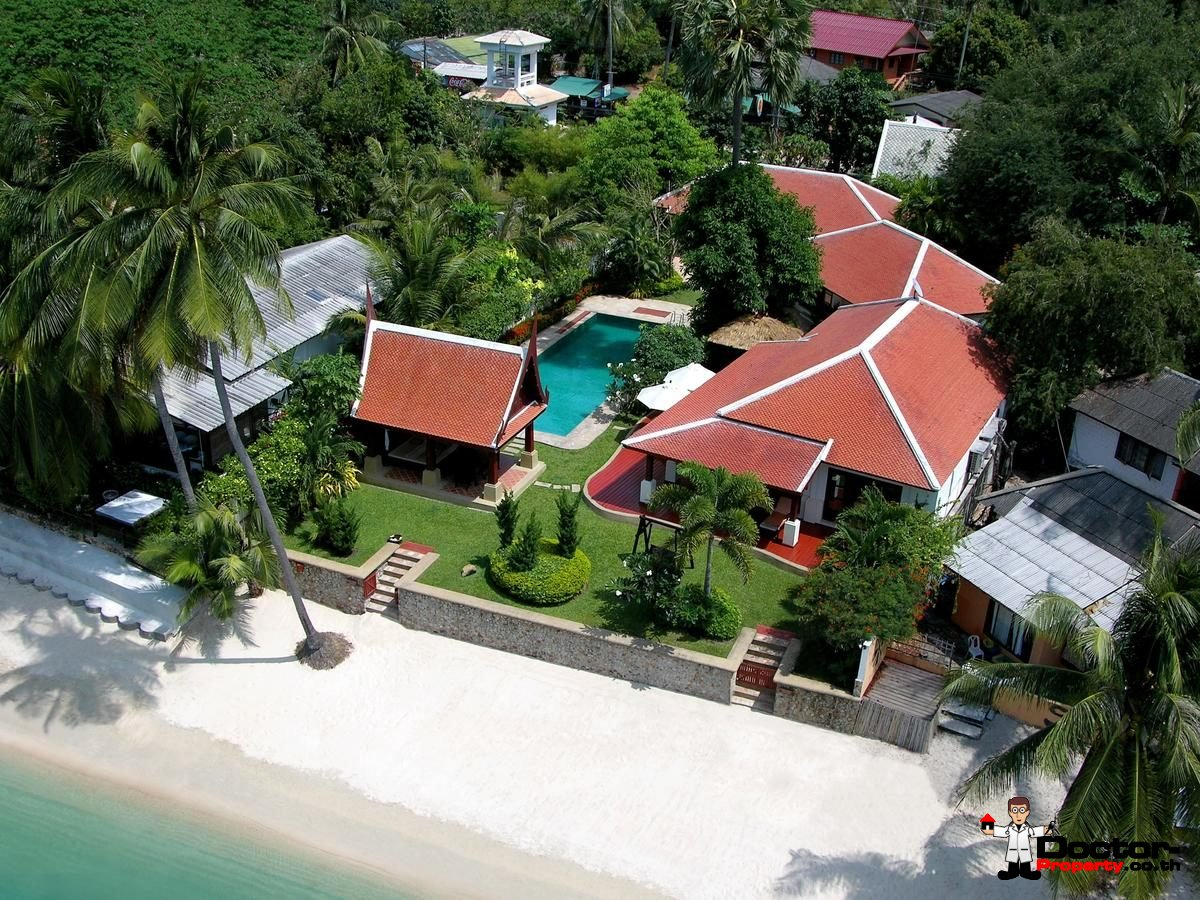 Luxury 5 Bedroom Beachfront Villa in Bang Rak, Koh Samui - For Sale