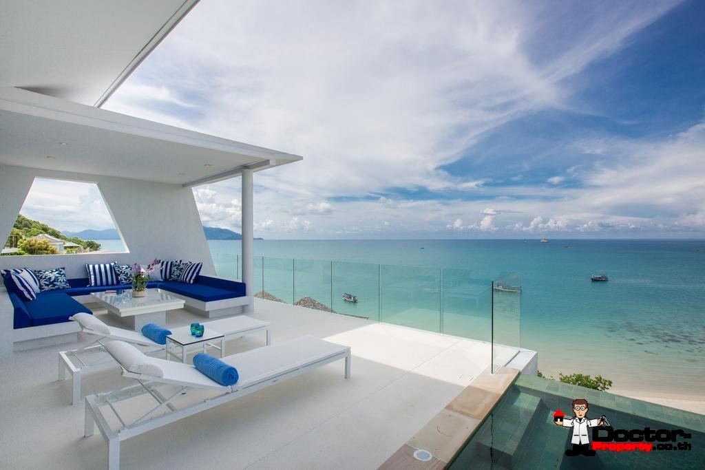 Exclusive New 4 Bedroom Villa with Sea View - Choeng Mon, Koh Samui - For Sale