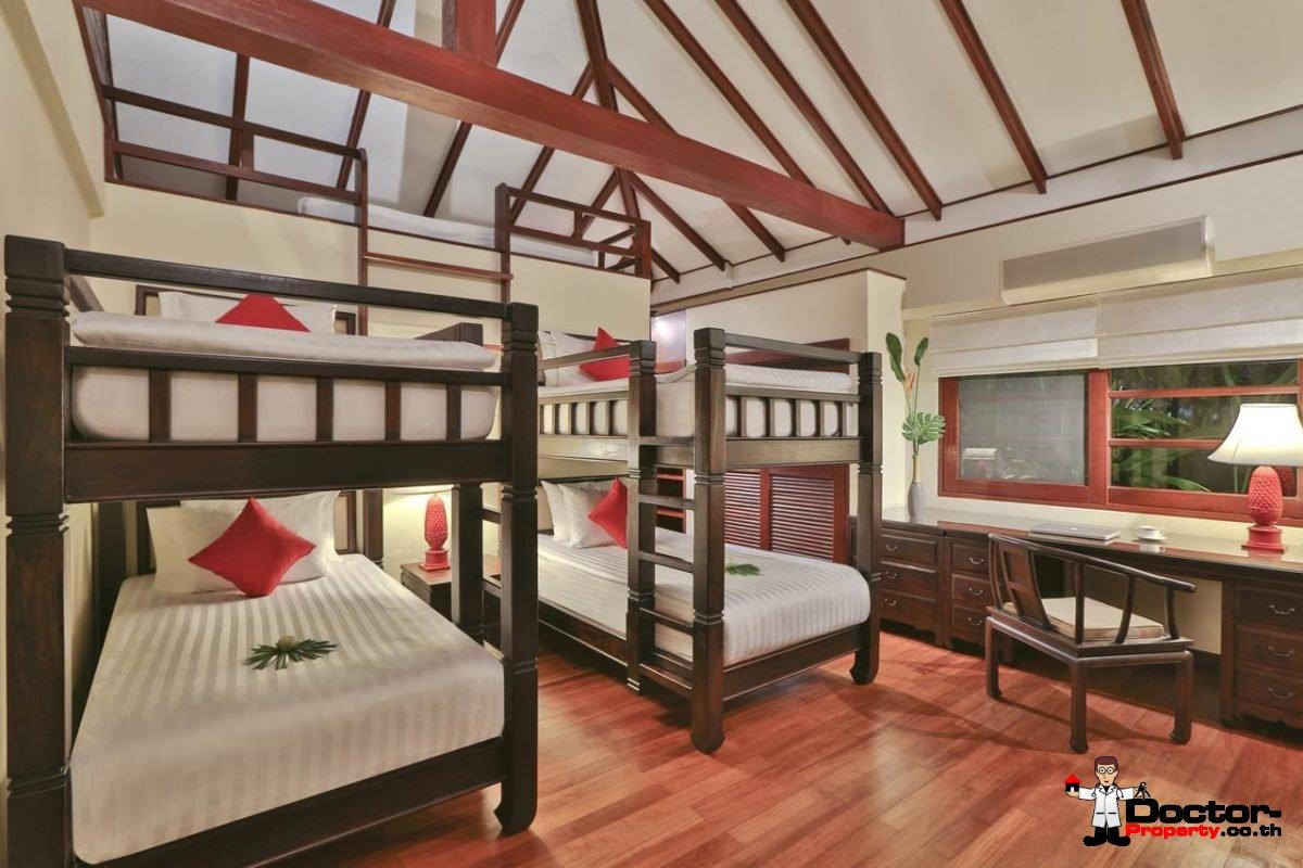 Luxury 5 Bedroom Beachfront Villa in Bang Rak, Koh Samui - For Sale