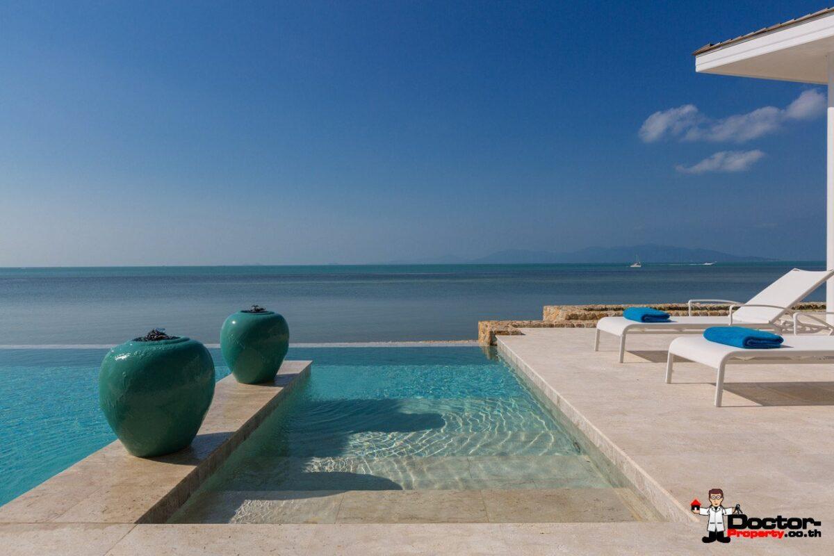 Beachfront Modern 4 Bed Villa, Infinity Pool - Bang Rak, Koh Samui - For Sale