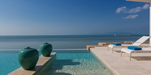 Beachfront Modern 4 Bed Villa, Infinity Pool - Bang Rak, Koh Samui - For Sale