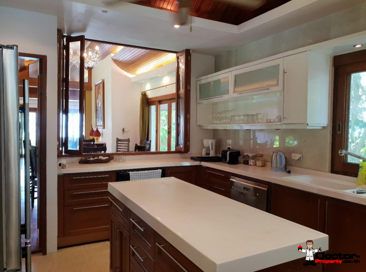 5 Bedroom Beachfront Villa - Laem Set - Koh Samui for sale