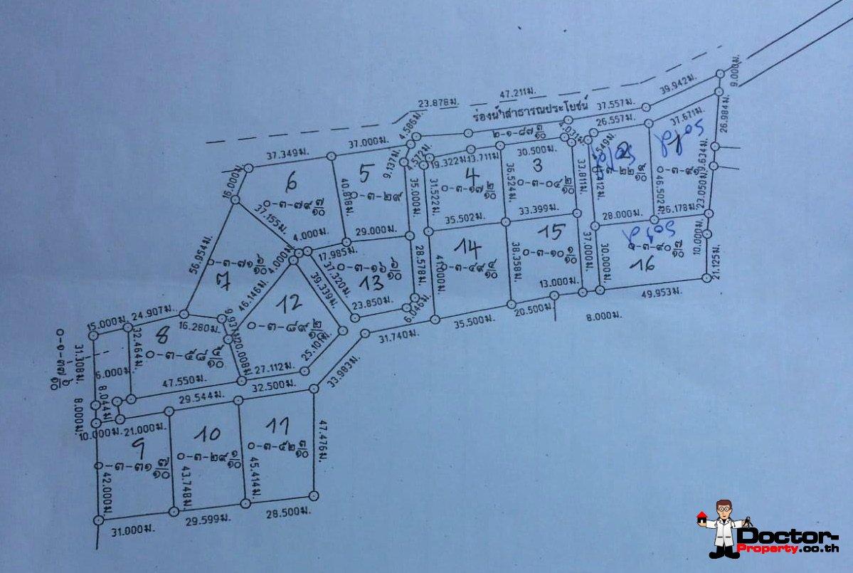 Amazing Sea View Land (1-13 Plots) - Chaweng - Koh Samui - for sale