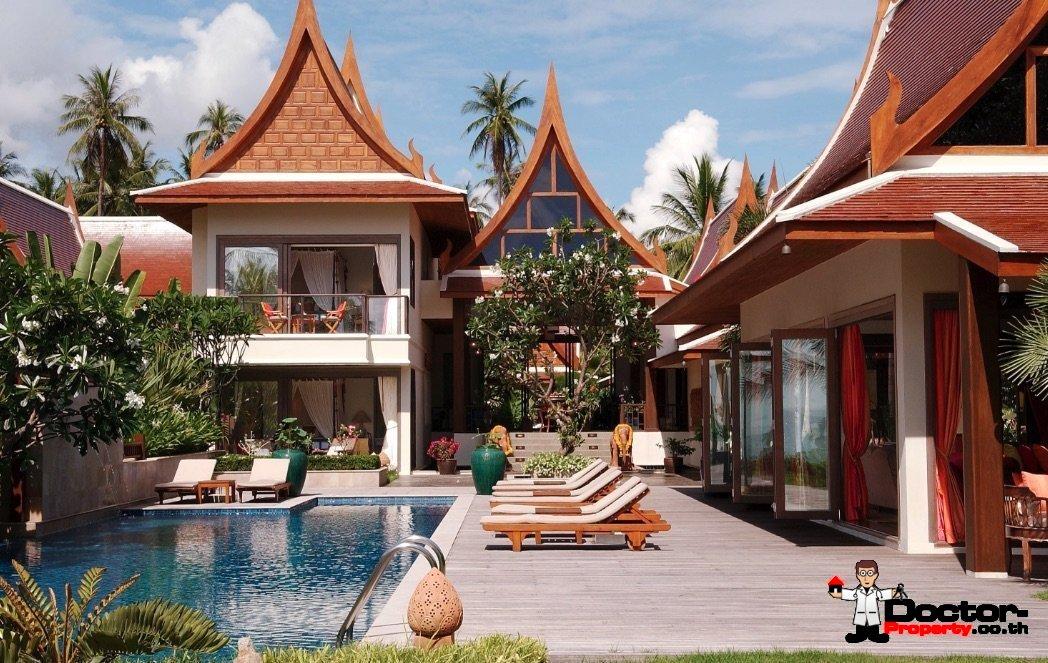 5 Bedroom Beachfront Villa - Lipa Noi - Koh Samui - for sale