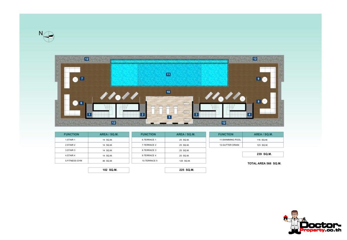 New 4 Bedroom Townhouse - Choeng Mon - Koh Samui - for sale
