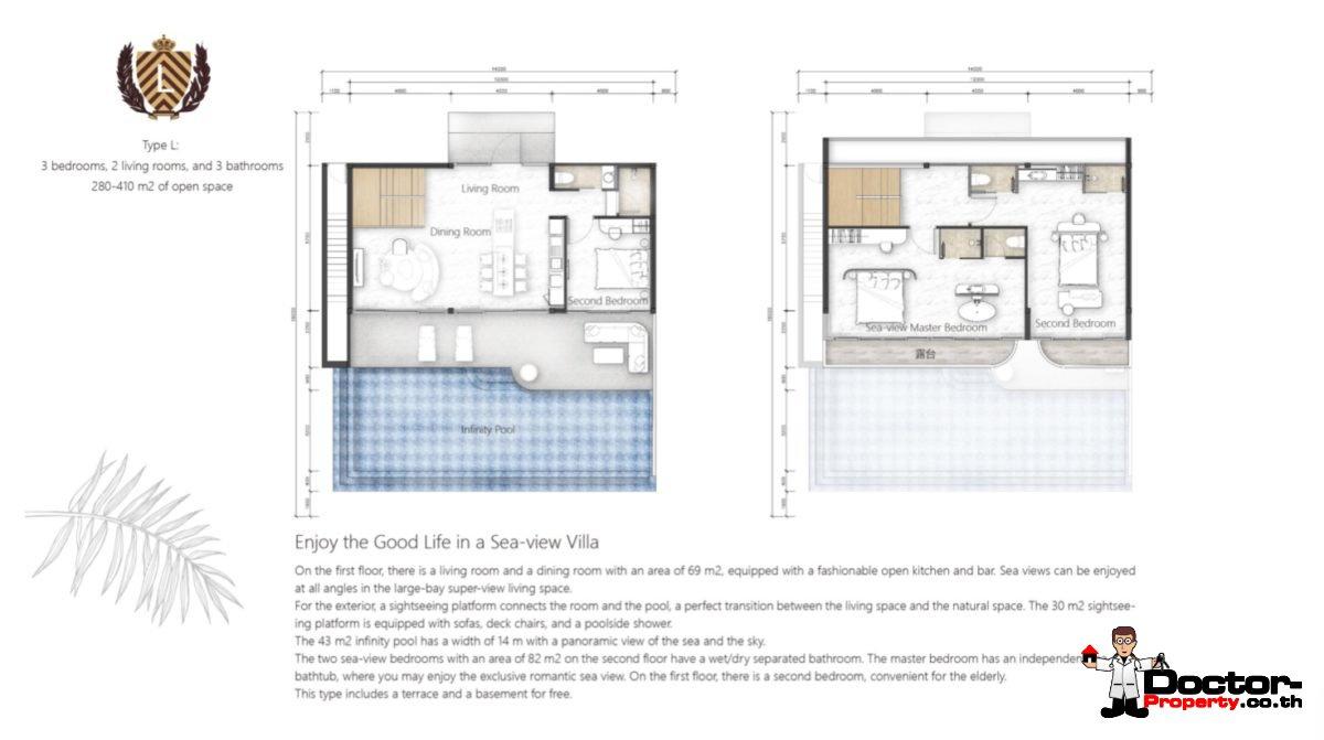 New 3 Bedroom Villa with Sea View – Bang Makham – Koh Samui