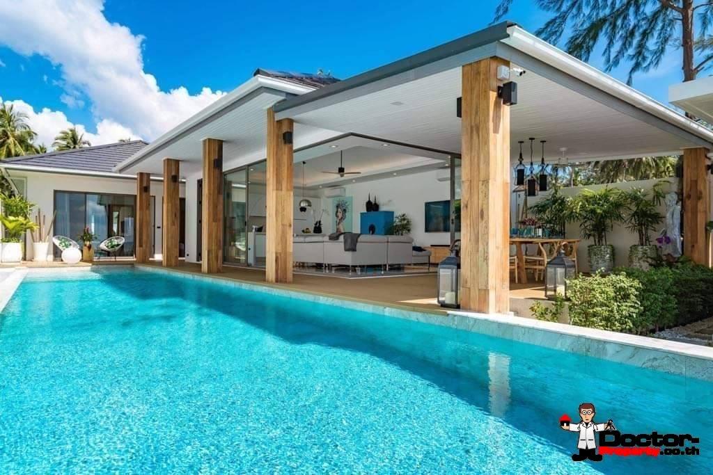 3 Bedroom Beachfront Pool Villa on Laem Set, Koh Samui - For Sale