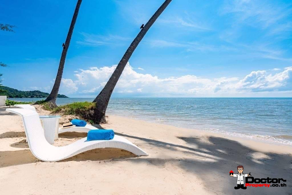 3 Bedroom Beachfront Pool Villa on Laem Set, Koh Samui - For Sale