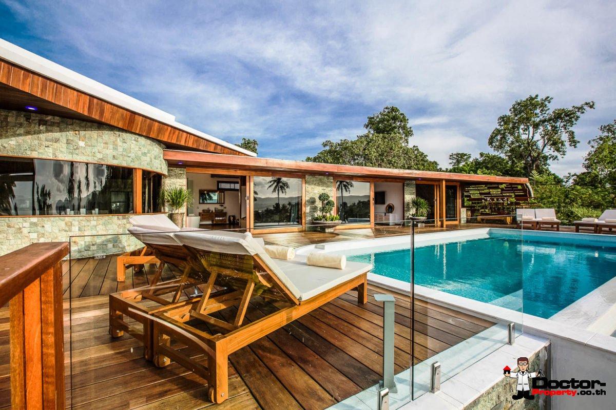 Amazing 4 Bedroom Sea View Villa - Choeng Mon - Koh Samui - for sale
