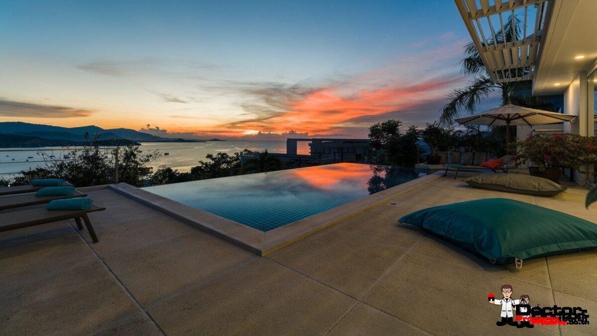 4 Bedroom Pool Villa with Sea View - Bang Rak, Koh Samui - For Sale