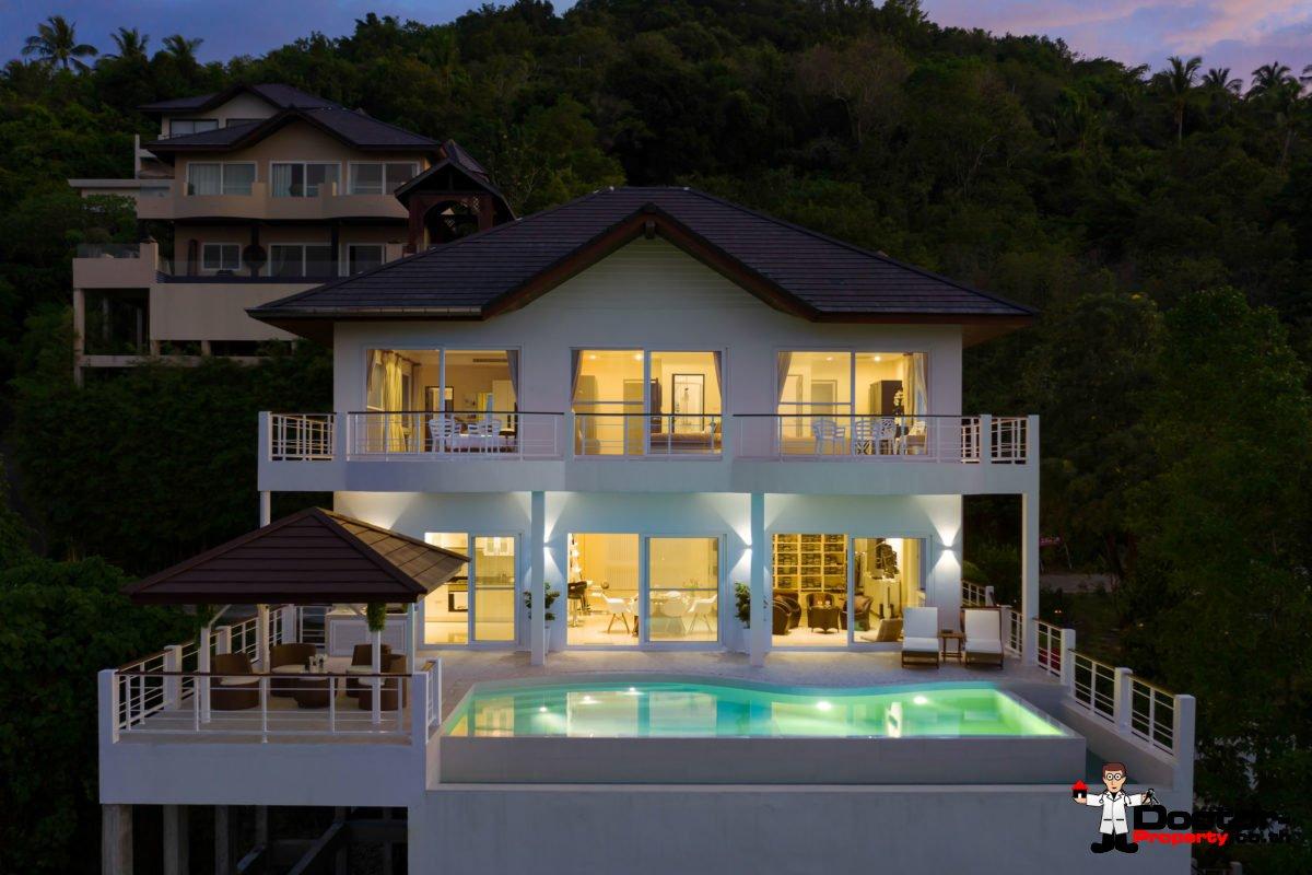 4 Bedroom Villa with Pool, Sea View - Bo Phut, Koh Samui - For Sale