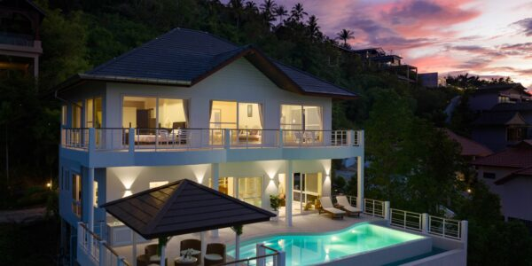 4 Bedroom Villa with Pool, Sea View - Bo Phut, Koh Samui - For Sale