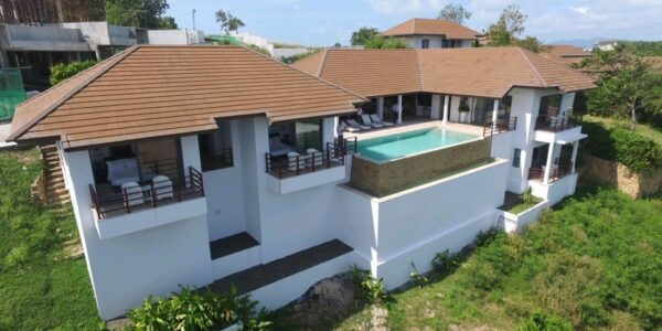 4 Bedroom Sea View Villa - Choeng Mon - Koh Samui - for sale